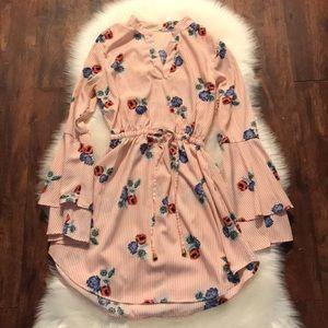 The floral mini dress